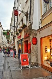 Mozart cafe in Salzburg, Austria