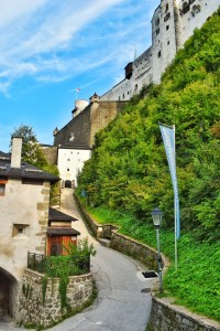 Instead of going towards the fortress, take the opposite direction for gardens Hohensalzburg, Austria