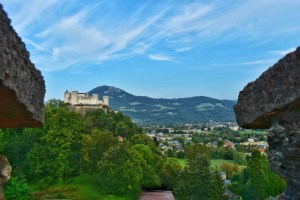 view of fortress at an angle, hohensalzburg, austria