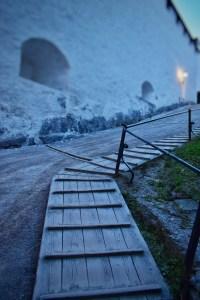 Entering fortress in salzburg, Austria
