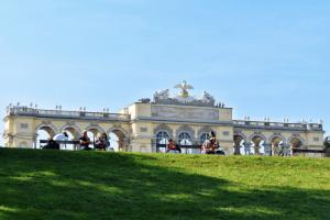 Gloriette in Schonbrunn Gardens, Vienna, Austria