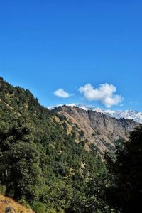 Hills views from Deoria Tal near Chopta in Uttrakhand