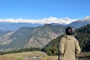 Himalayas from Chopta in Uttrakhand