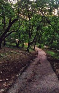 Gellert Hill trail in Budapest, Hungary