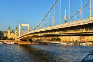 Elizabeth bridge in Budapest, Hungary