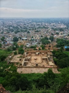 View of Gujari Mahal from top in Gwalior Fort, Gwalior, Madhya Pradesh