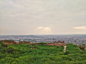 beautiful views from top of the Gwalior Fort, in Gwalior, Madhya Pradesh
