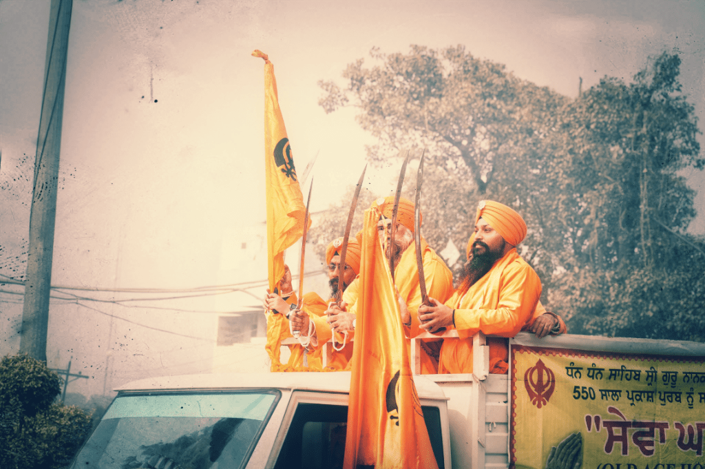 Sikh Procession in Amritsar - life in the city