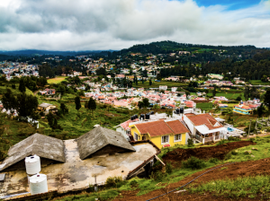View from the Benchmark Tea Factory in Ooty