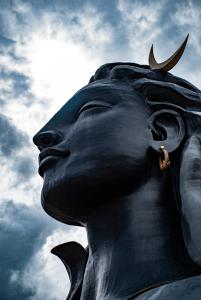 Close up view of Adiyogi statue at Isha Yoga Center in Coimbatore