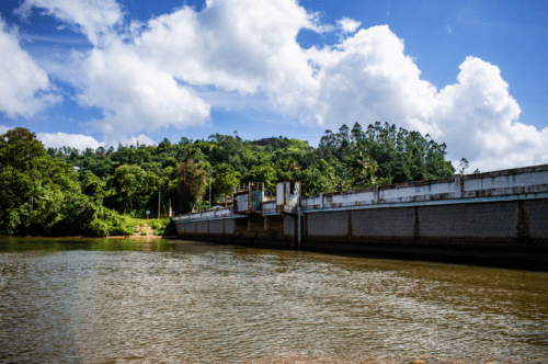 Bridge passing over Chengulam Dam