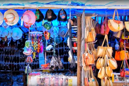 Souvenir shops outside Mattupetty Dam