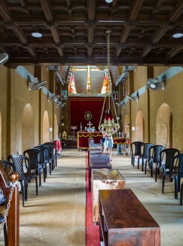 Inside the old Syrian church in Kochi