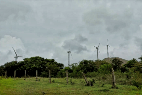 Windmills on the other side of Chathurangpara viewpoint