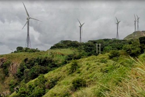 Windmills on one side of Chathurangpara viewpoint