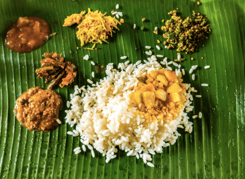 Kerala cuisine for lunch