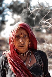 Portrait of a Rajasthani woman