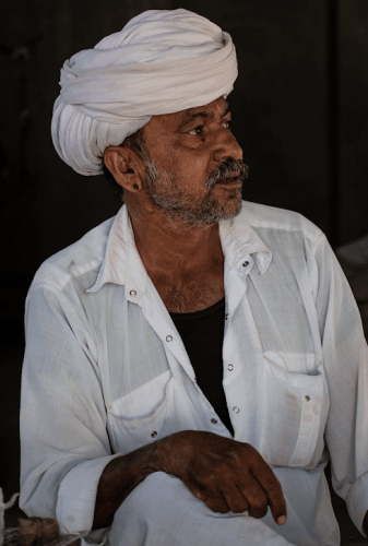 Head of a Bishnoi family (Salawas village in Jodhpur)