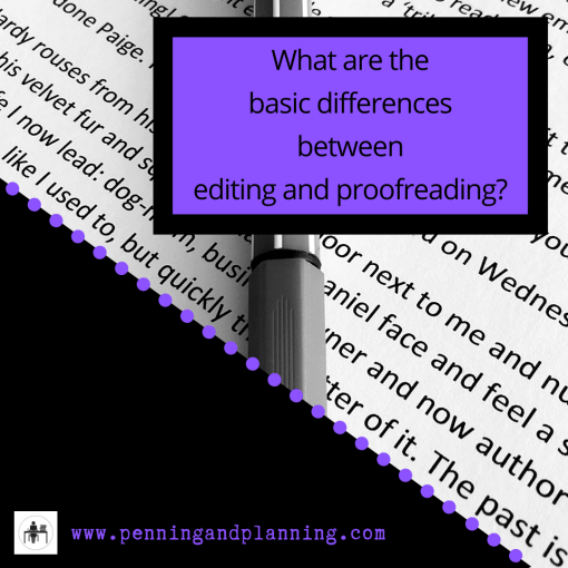 What are the basic differences between editing and proofreading?