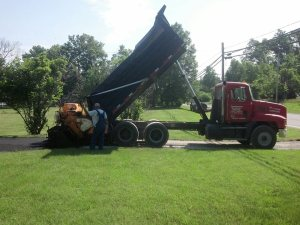 Our asphalt paving crew in action in southern Illinois! | Penninger Residential & Commercial Asphalt Paving