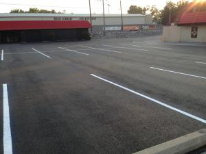 New asphalt overlay parking lot for a Dairy Queen in Anna, IL | Penninger Residential & Commercial Asphalt Paving in Southern Illinois