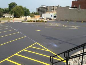 New asphalt parking lot installation for a First EPC Church in Anna, IL | Penninger Residential & Commercial Asphalt Paving