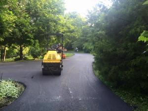 Private drive paving with fresh asphalt | Penninger Asphalt Paving, Inc