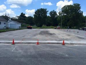 New asphalt parking lot in progress! | Penninger Asphalt Paving, Inc