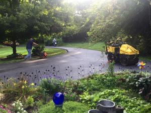Private drive paving with fresh asphalt | Penninger Asphalt Paving, Inc
