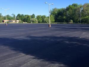 New asphalt commercial parking lot | Penninger Asphalt Paving, Inc - Southern Illinois Paving Specialists