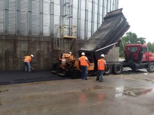 New blacktop asphalt paving at a plant in southern Illinois | Penninger Residential & Commercial Asphalt Paving