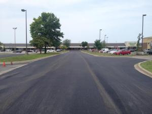 Carbondale Plaza shopping center parking lot repave project in Carbondale, IL | Penninger Residential & Commercial Asphalt Paving