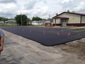 New lot and drive paving for Mounds Church in Pulaski County Illinois | Penninger Residential & Commercial Asphalt Paving