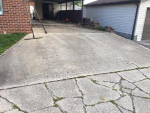 Asphalt driveway paving project before | Penninger Asphalt Paving, Inc