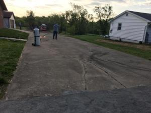 Asphalt driveway paving project before | Penninger Asphalt Paving, Inc