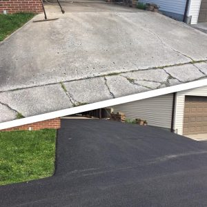 Asphalt Driveway Before & After | Penninger Asphalt Paving, Inc