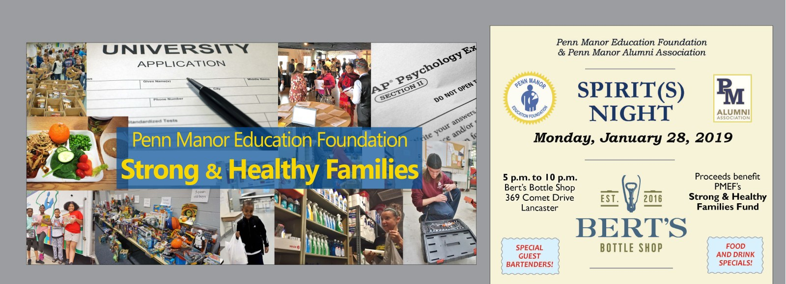 Jan. 28 Spirit(s) Night to benefit Strong & Healthy Families