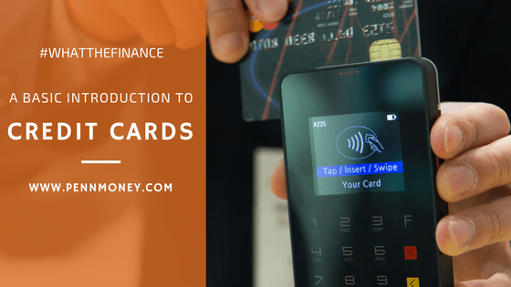 basic introduction to credit cards, personal finance