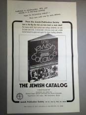 Advertising for the Third Printing of the First Edition of the Jewish Catalog, 1974