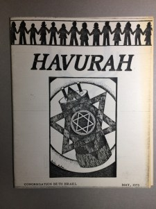 The Havurah Movement grew to include Havurot within synagogues, 1979