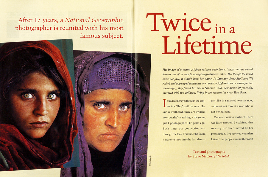 In our May-June 2002 issue, McCurry talked about being reunited with his most famous subject.