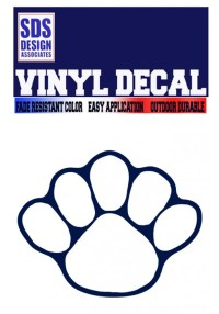 Penn State 5 Toe Paw Decal