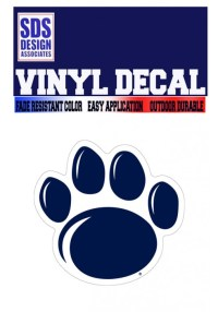 Penn State New Paw Decal  Available in 3 or 6