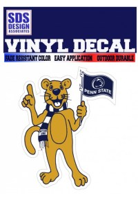 Penn State Mascot with Flag Decal