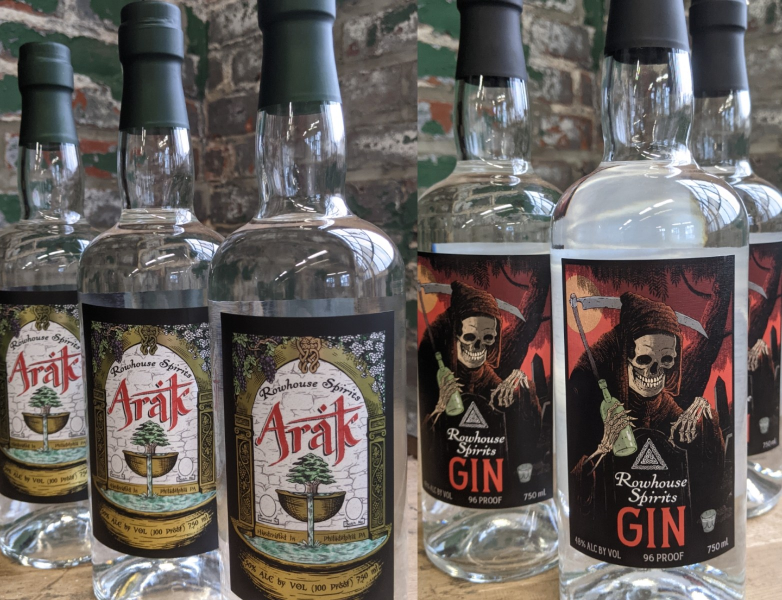 Rowhouse Spirits Arak and Gin