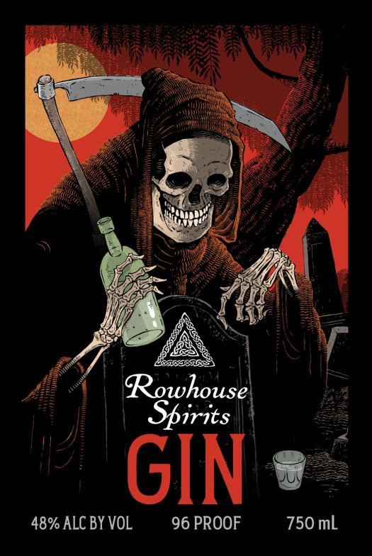 Rowhouse Spirits Gin Label