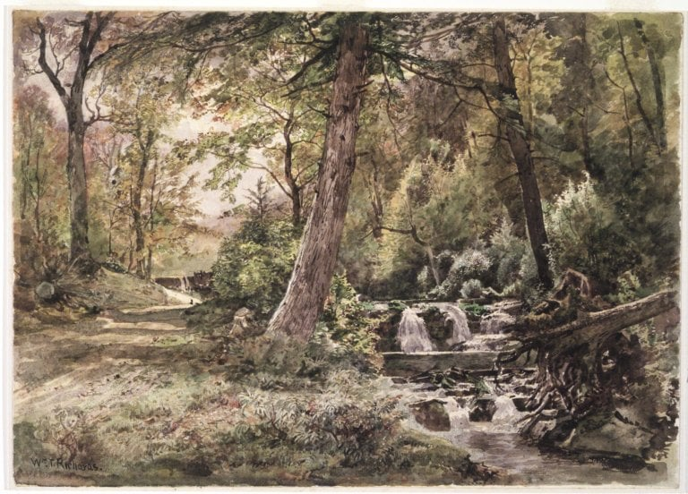 Landscape with Stream and Road, Chester County - Brooklyn Museum