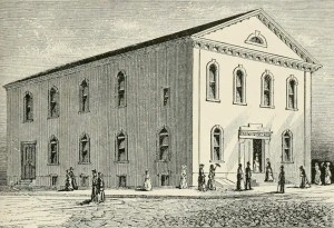 First Baptist Church in 1808 at Philadelphia PA