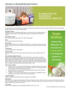 Fact Sheet: Alternatives to Household Hazardous Products.
