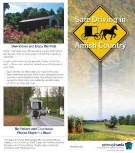Safe Driving in Amish Country fact sheet